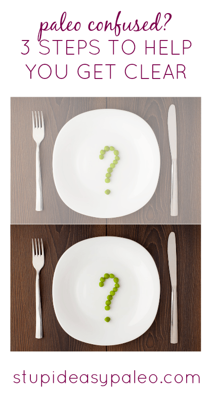 Paleo Confused? 3 Steps to Help You Get Clear | stupideasypaleo.com