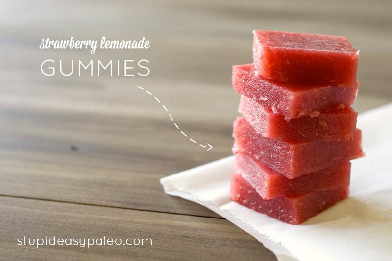 Strawberry Lemonade Gummies | stephgaudreau.com