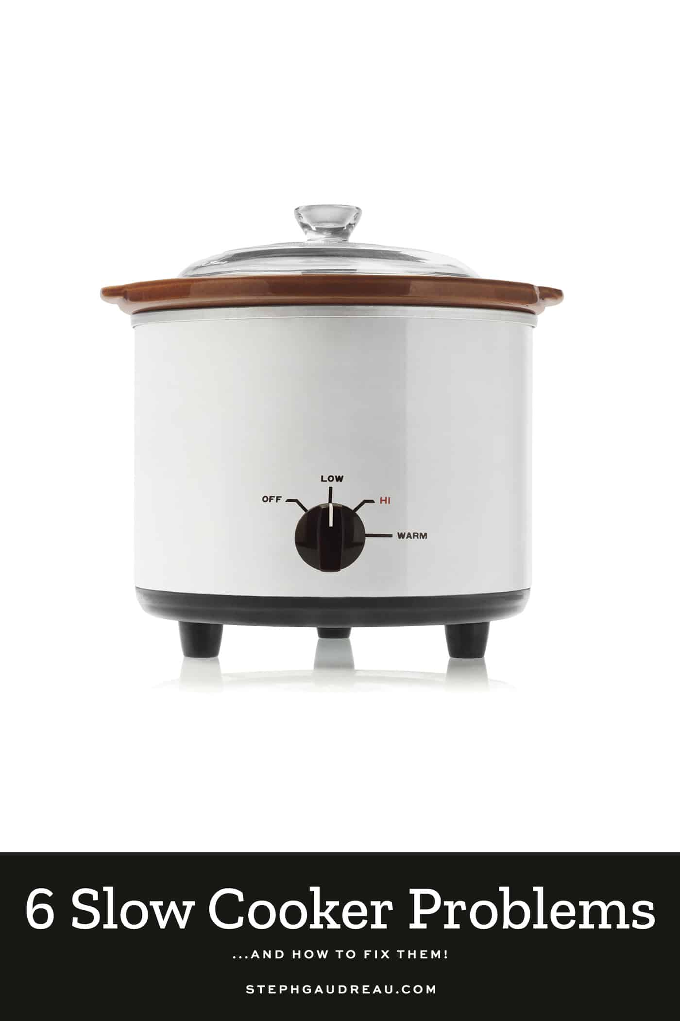 pinterest pin with slow cooker