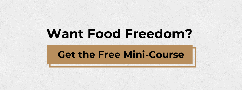 box that says want food freedom get the free mini course