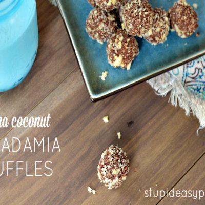 Mocha Coconut Macadamia Truffles | stupidesaypaleo.com