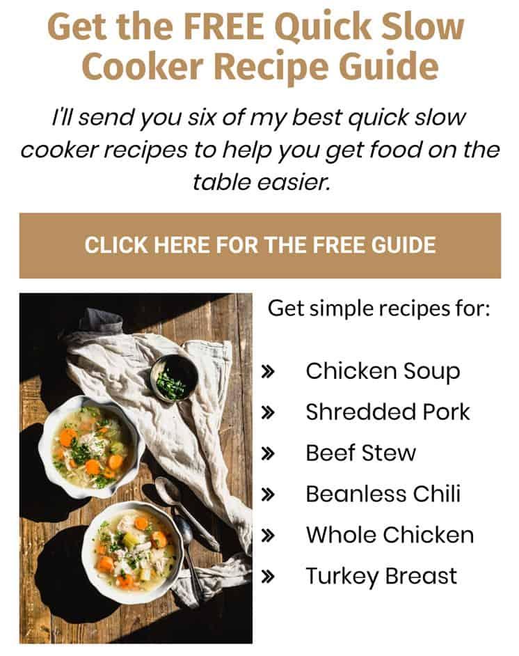 slow cooker guide sign up form