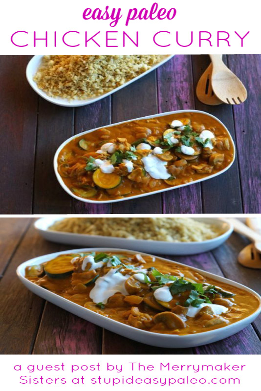 Easy Paleo Chicken Curry satisfies your comfort food cravings with gluten-free, dairy-free ingredients! | StupidEasyPaleo.com