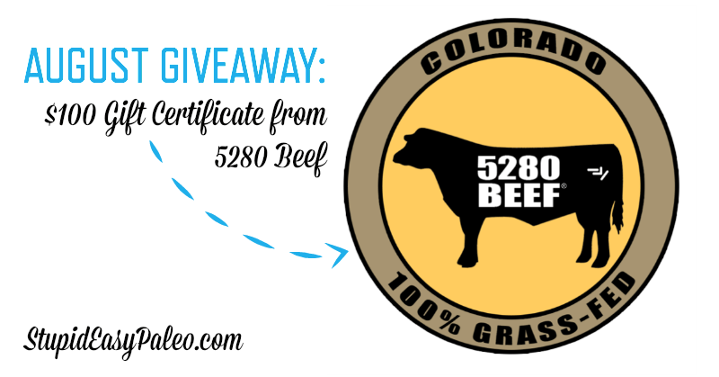 August Giveaway—$100 Gift Certificate for 5280 Beef | stephgaudreau.com