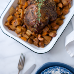 Paleo Slow Cooker Lamb Roast with Root Veggies