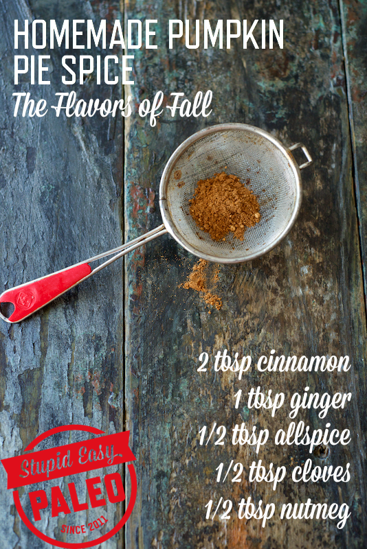 Easy recipe for Homemade Pumpkin Pie Spice means you'll never run out of this delicious spice mix ever again! | StupidEasyPaleo.com
