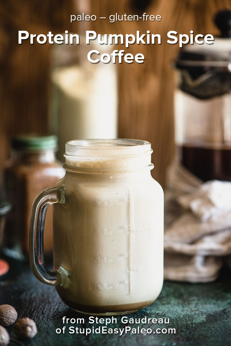Protein Pumpkin Spice Coffee | StupidEasyPaleo.com