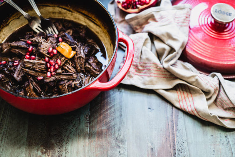 This Pomegranate Habanero Shredded Beef recipe will knock your socks off with how easy and flavorful it is. Paleo & Whole30-friendly! | StupidEasyPaleo.com
