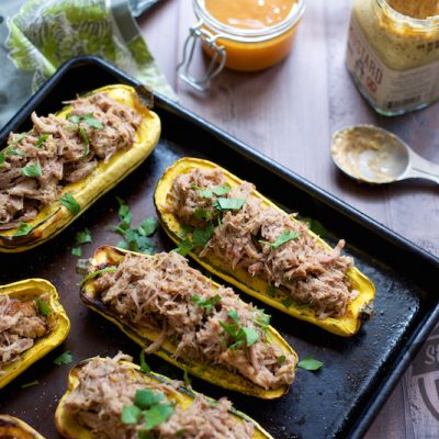 Paleo Pulled Pork Stuffed Squash | stephgaudreau.com