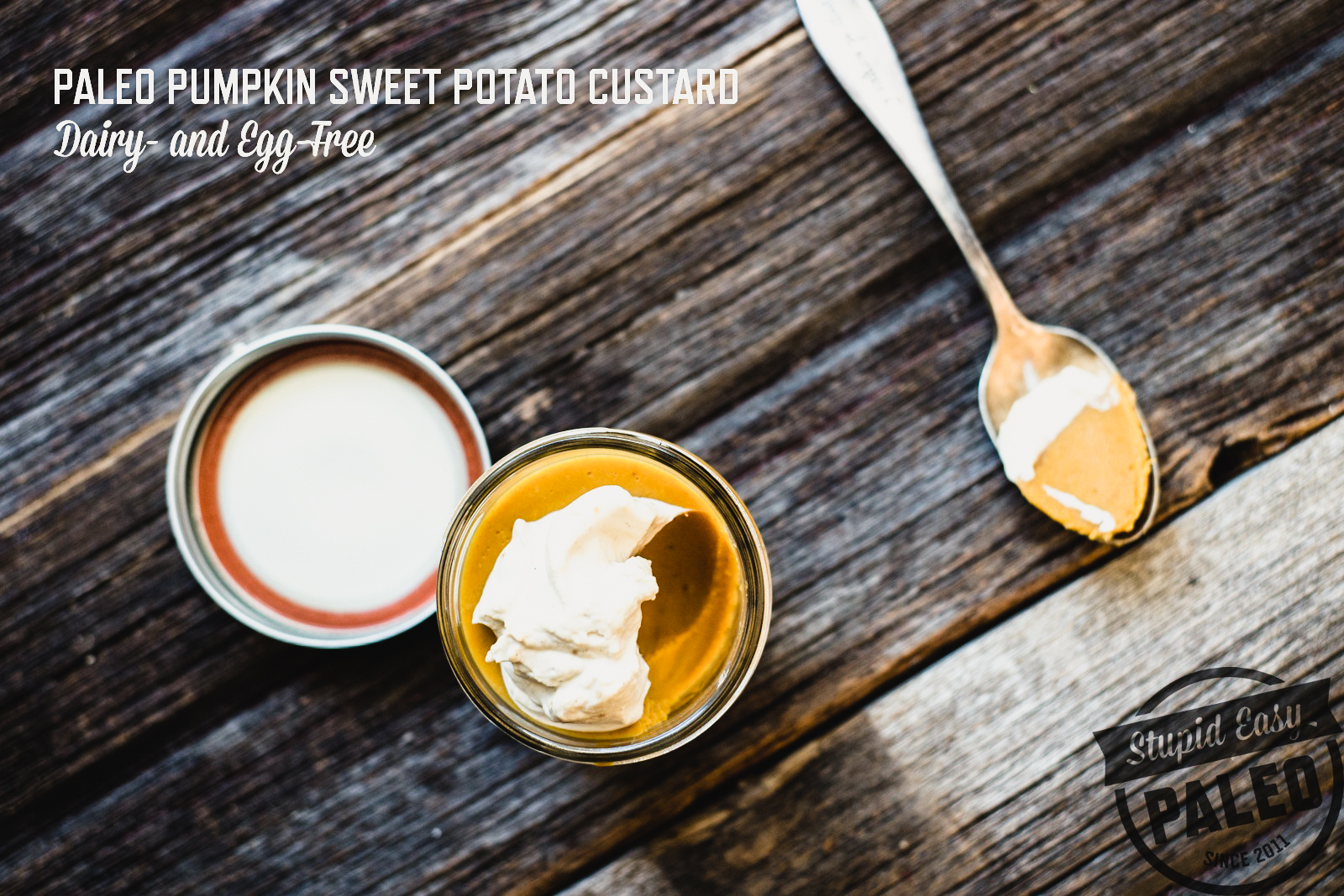 Paleo Pumpkin Sweet Potato Custard was the finishing touch to our Thanksgiving holiday meal, and it's incredibly easy to make. | StupidEasyPaleo.com