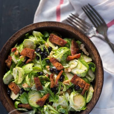 Paleo Brussels, Blueberry & Bacon Salad | stephgaudreau.com