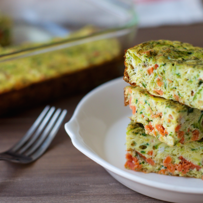 Smoked Salmon Egg Bake from Performance Paleo Cookbook | stephgaudreau.com