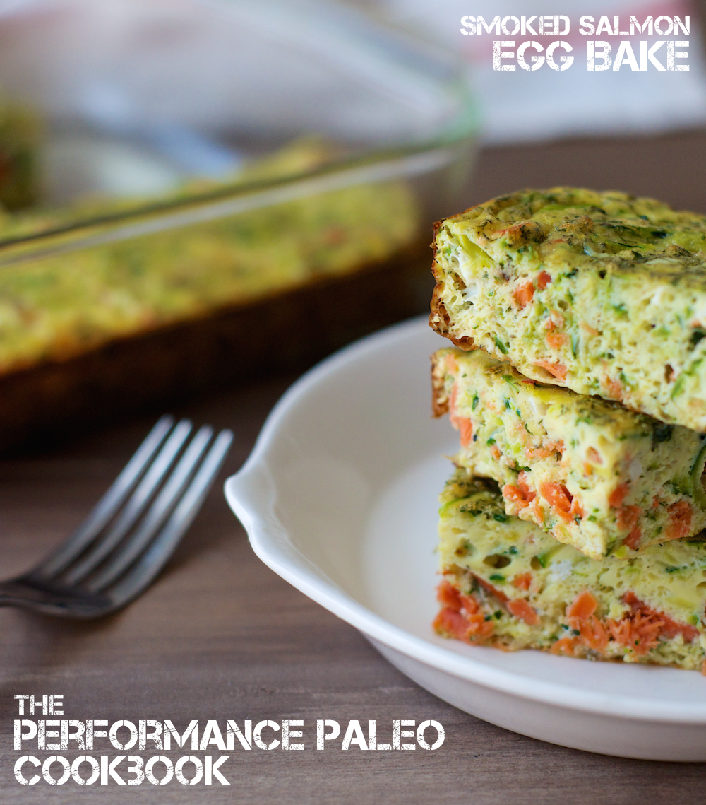Smoked Salmon Egg Bake from The Performance Paleo Cookbook makes a perfect portable pre-workout snack! | StupidEasyPaleo.com