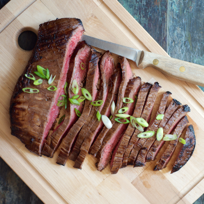 Tender Asian-Marinated Flank Steak: Performance Paleo Cookbook | stephgaudreau.com