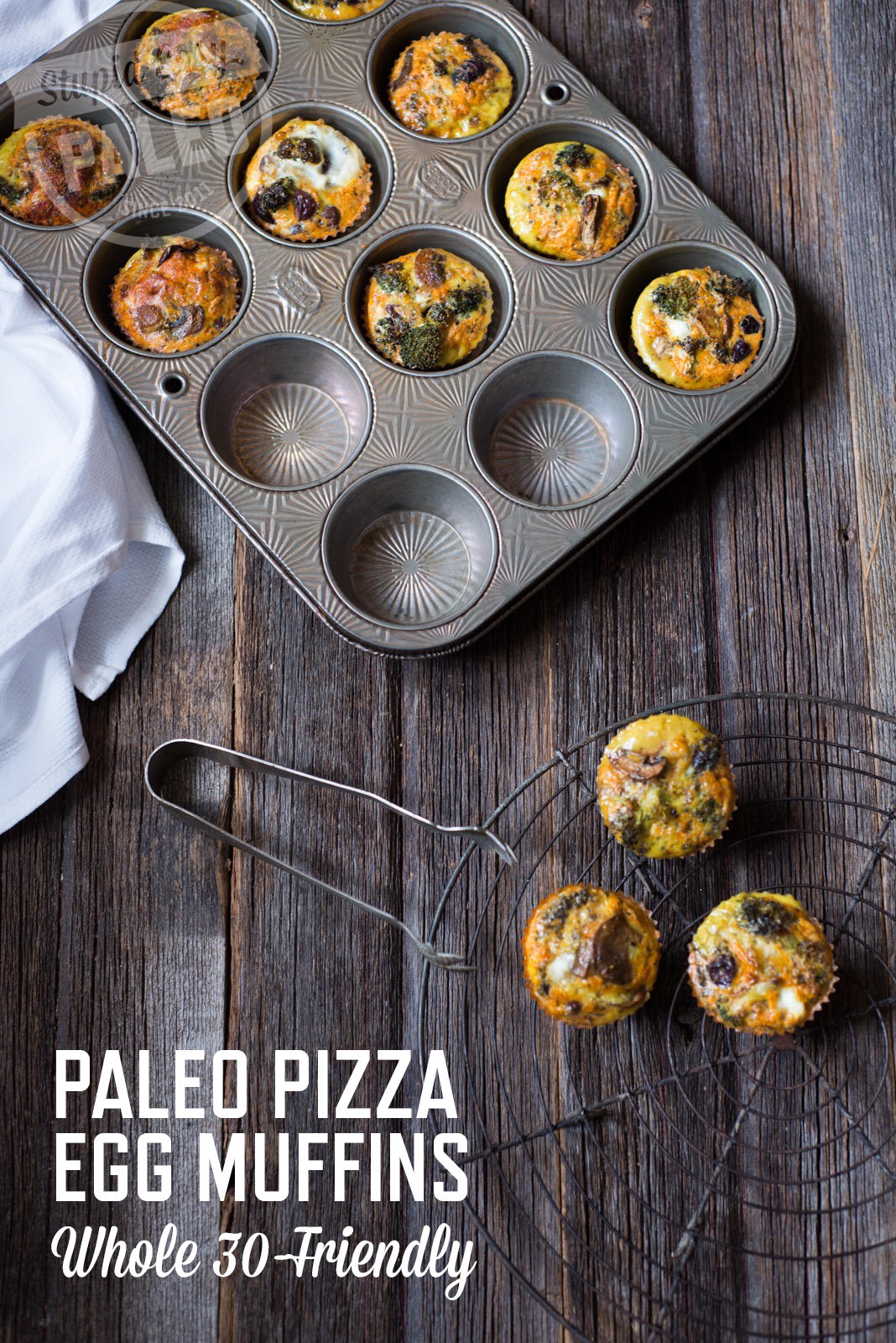 These delicious Paleo Pizza Egg Muffins have all the flavor of pizza without the gluten or dairy. Loaded with veggies & Whole30-friendly! | StupidEasyPaleo.com