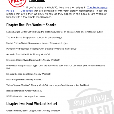 Whole30 Recipes in The Performance Paleo Cookbook   stephgaudreau.com