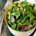 Swiss Chard Salad with Toasted Walnuts Recipe | stupideasypaleo.com