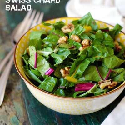 Swiss Chard Salad with Toasted Walnuts | stephgaudreau.com