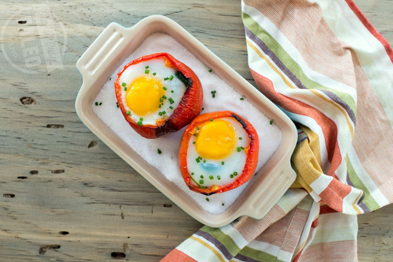 Breakfast Stuffed Peppers | StupidEasyPaleo.com