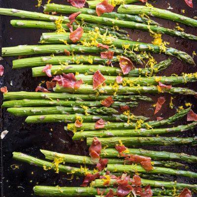 Roasted Asparagus with Prosciutto and Orange Recipe | stephgaudreau.com