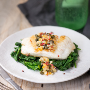 Pan-Fried Haddock with Lemon & Capers | stephgaudreau.com