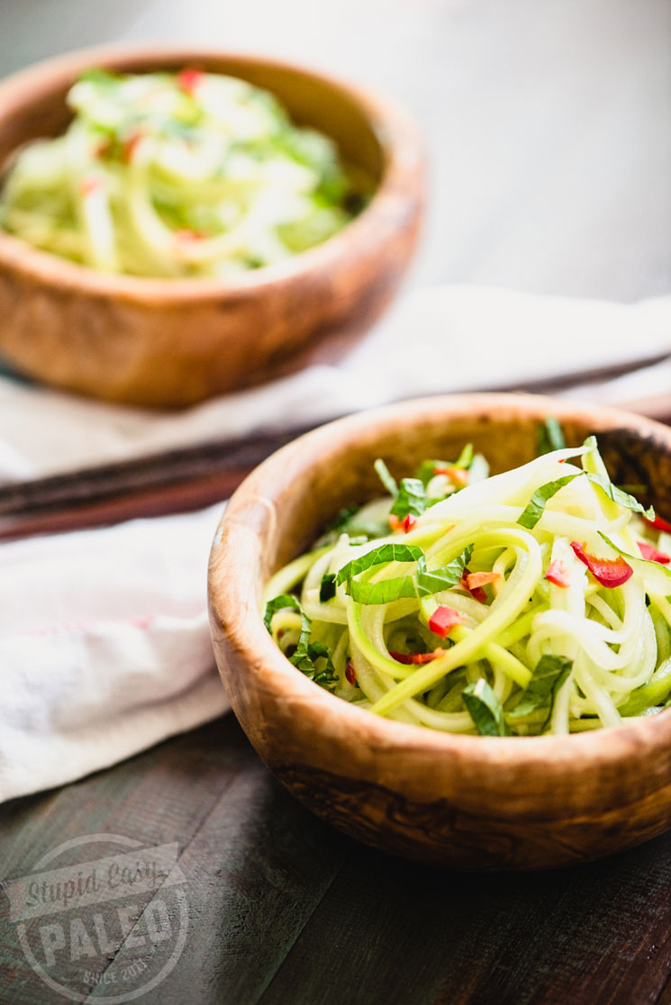 Get this light and fresh Paleo Cucumber Sesame Salad recipe! It's perfect for warmer weather and comes together with just a few simple ingredients. It's gluten-free and whole30 friendly! | StupidEasyPaleo.com