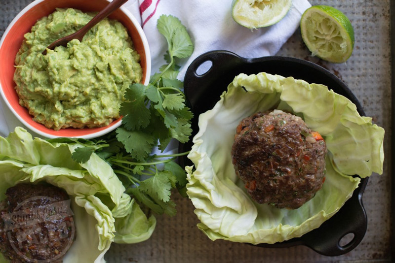 Make this Paleo Cinco de Mayo Burgers recipe for your holiday feast, and get in the spirit the healthy way! Gluten-free and Whole30-friendly. | StupidEasyPaleo.com