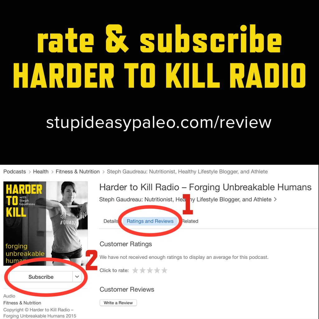 Subscribe to Harder to Kill Radio | stupideasypaleo.com