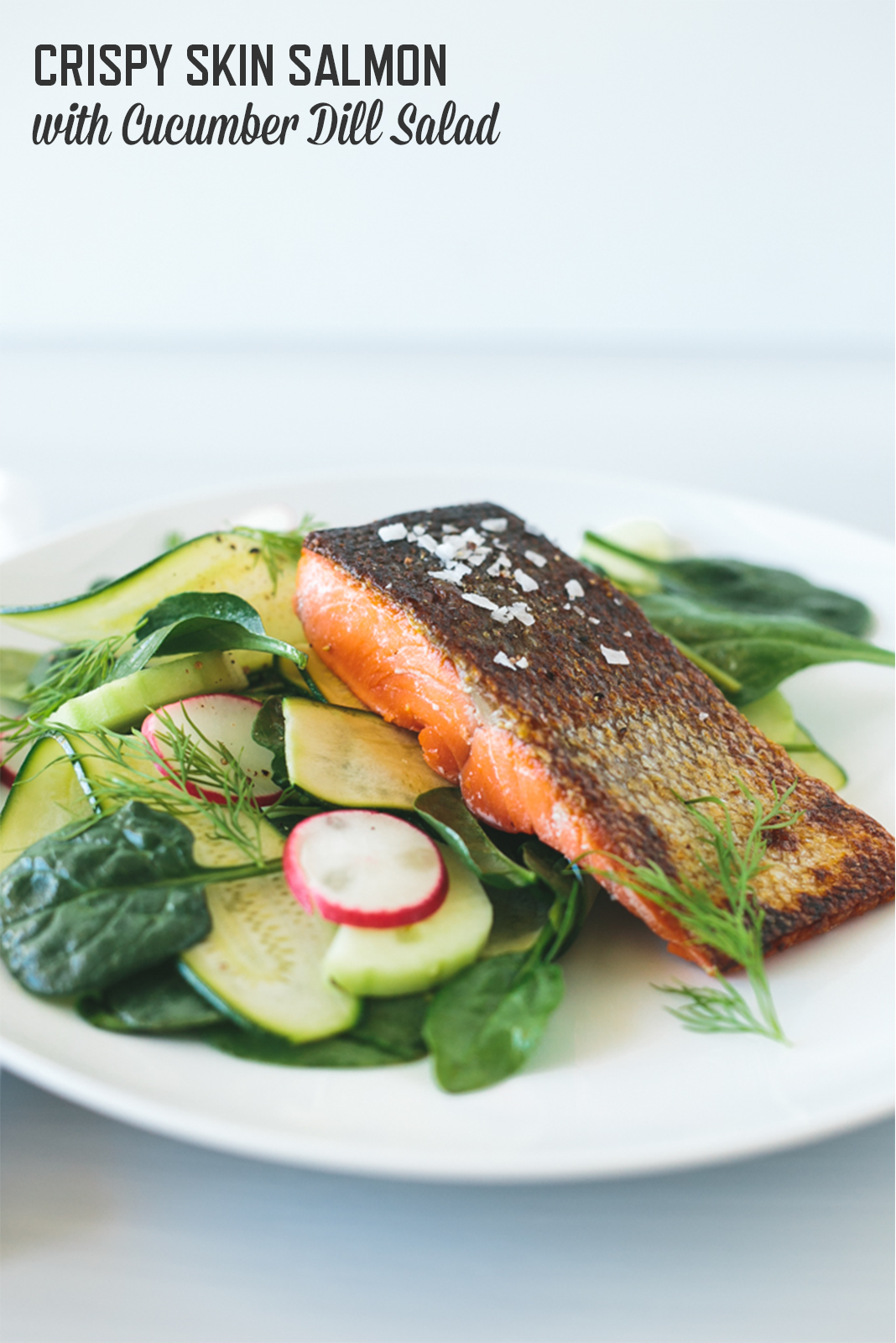 Get this light and refreshing recipe for Crispy Skin Salmon (gluten-free & Paleo) from my special guest Lisa Bryan of Downshiftology. | StupidEasyPaleo.com