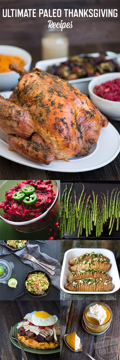 Get my Ultimate Paleo Thanksgiving recipes compilation! Celebrate the holiday with your favorite gluten-free, healthy Thanksgiving recipes! | StupidEasyPaleo.com