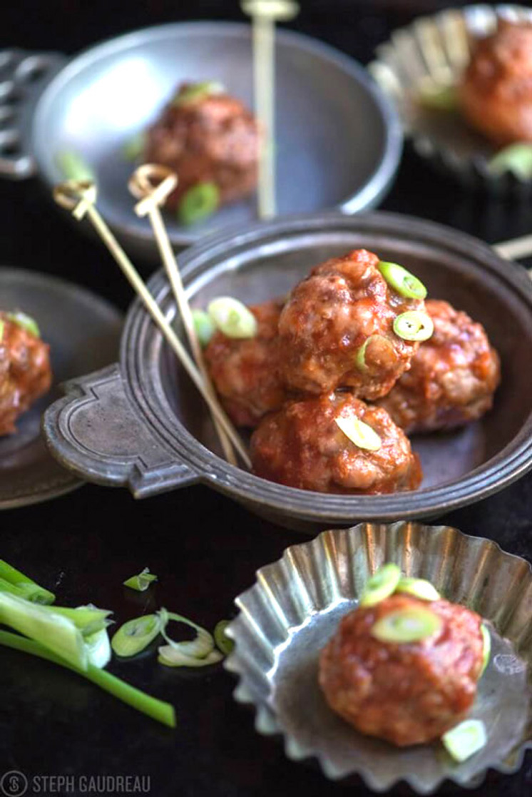 Make these flavorful, scrumptious Honey Chipotle Meatballs from the upcoming Paleo Cupboard Cookbook! They're gluten-free and make a great weeknight meal or appetizer. | StupidEasyPaleo.com