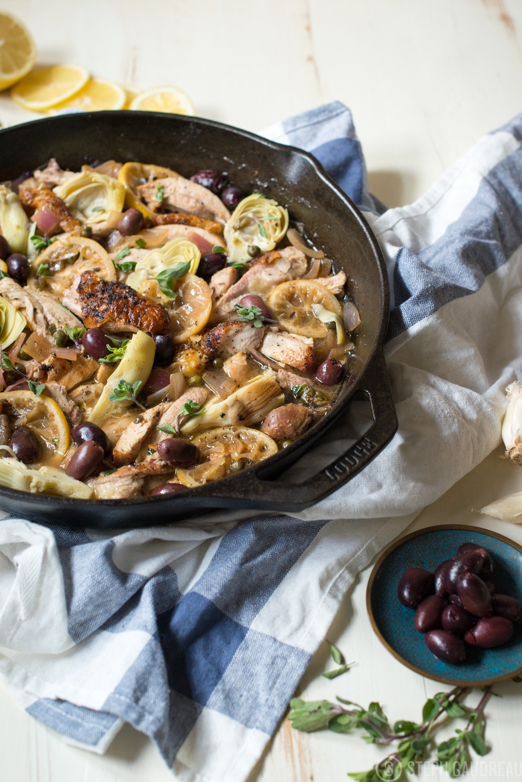Crispy Chicken Stew with Lemon, Artichokes, Capers, and Olives Recipe | StupidEasyPaleo.com