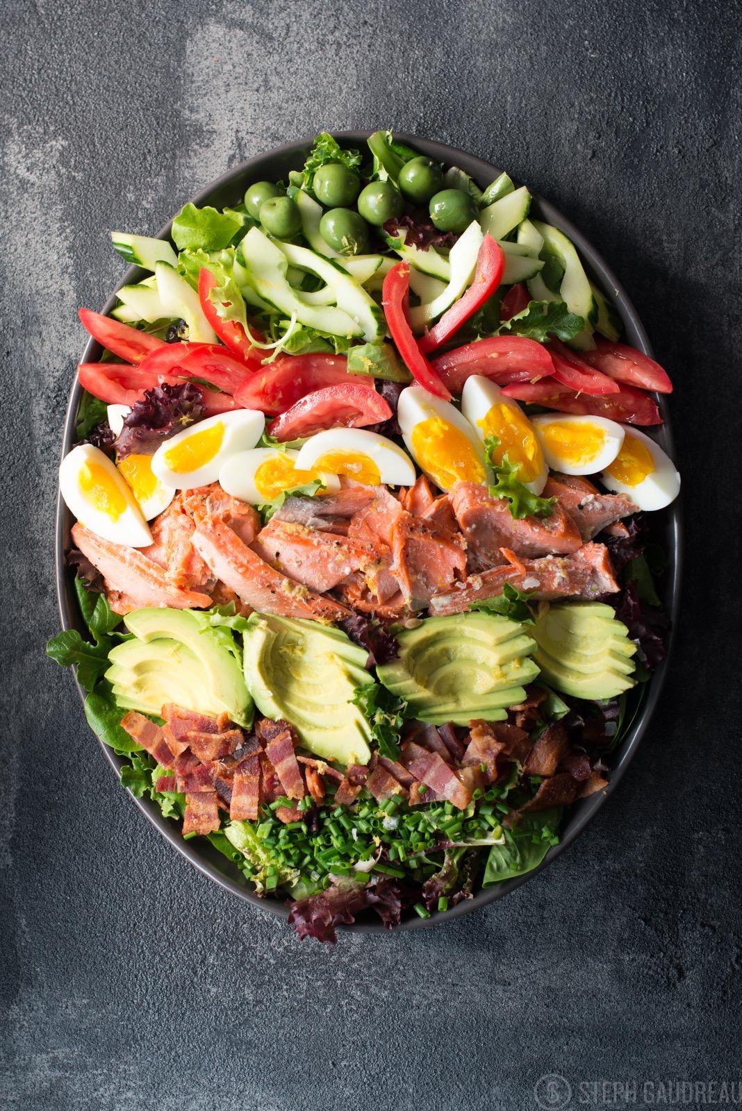 Salmon Cobb Salad   StupidEasyPaleo.com