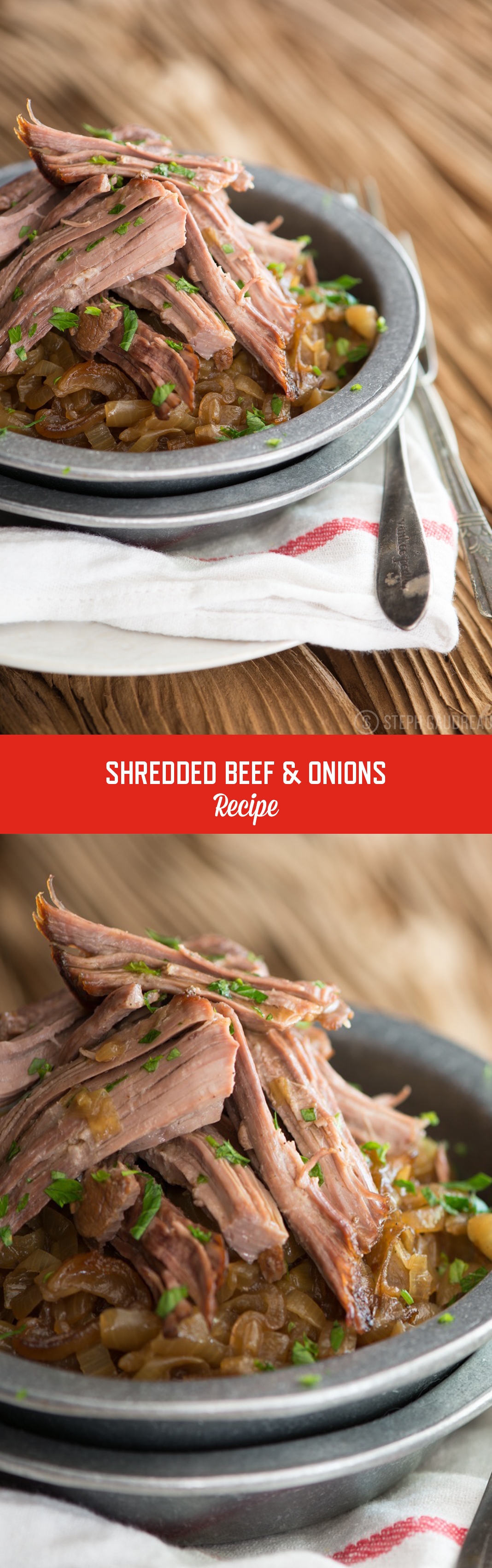 Shredded Beef & Onions Recipe | StupidEasyPaleo.com