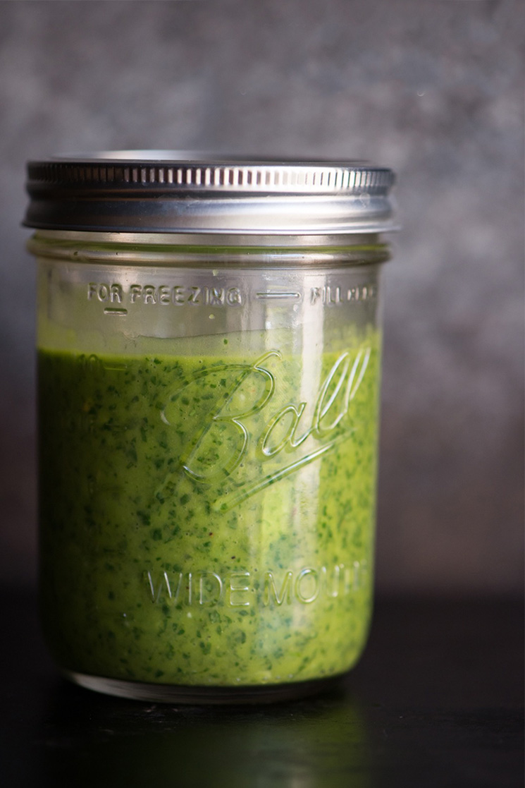 Make this Chimichurri Sauce recipe as a simple but flavor-packed topping for any meat, eggs, or veggies. It's hugely versatile and so easy! It's paleo, gluten-free, and whole30 friendly. | StupidEasyPaleo.com