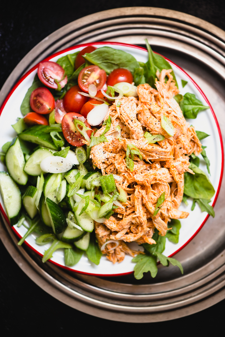 Buffalo Chicken Salad is so simple and absolutely bursting with flavor! It's perfect for packed lunches or quick dinners on any weeknight! Paleo, gluten-free, and whole30 friendly. | StupidEasyPaleo.com