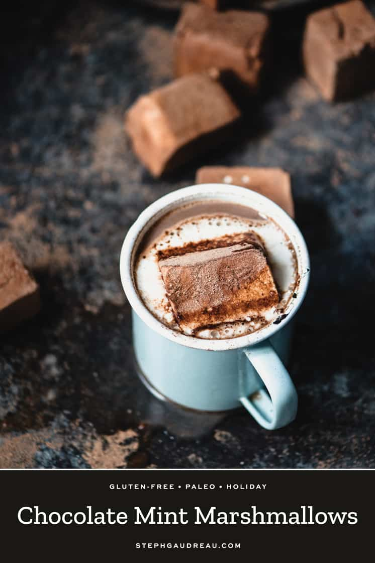 This Chocolate Mint Marshmallows Recipe is quite easy if you have a little bit of attention to detail and you like homemade projects. | StephGaudreau.com