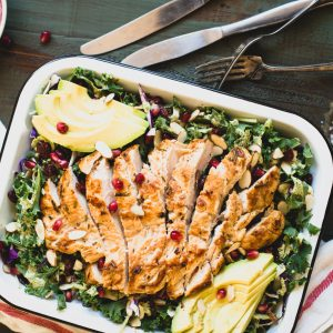 Market Salad with Lemon Rosemary Chicken Recipe | StupidEasyPaleo.com
