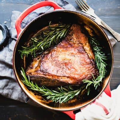 This Balsamic Beef with Rosemary Recipe is so simple to make, with just a few main ingredients. Make it for your paleo meal prep day! | StephGaudreau.com