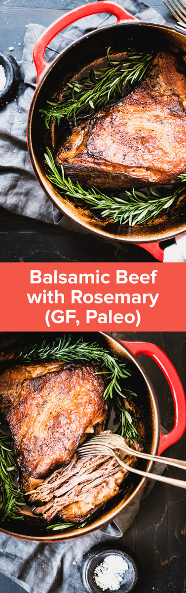 This Balsamic Beef with Rosemary Recipe is so simple to make, with just a few main ingredients. Make it for your paleo meal prep day! | StupidEasyPaleo.com
