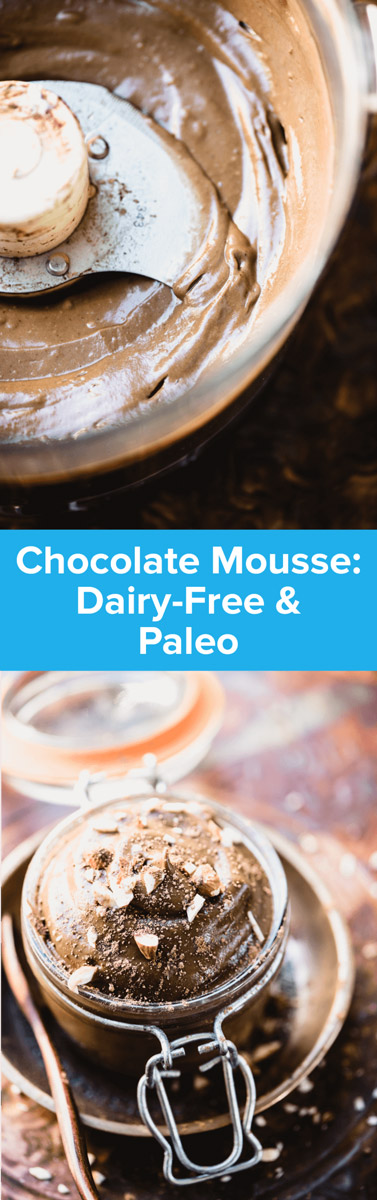 This dairy-free and Paleo Chocolate Mousse Recipe is packed with superfoods and a hidden ingredient that makes it uber-healthy! | StupidEasyPaleo.com