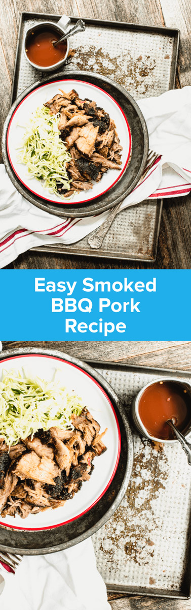 Get a chunk of pastured pork and turn it into the most succulent Easy Smoked BBQ Pork recipe you've ever had...complete with BBQ sauce! | StupidEasyPaleo.com