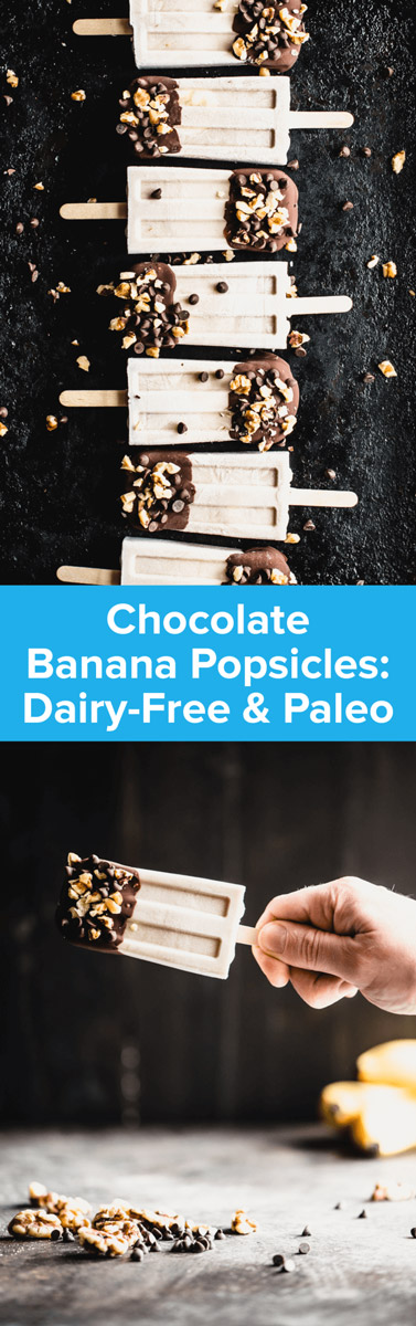 Kick summer off right with these Chocolate Banana Popsicles! They're dairy-free, paleo-friendly and so dang simple to make! | StupidEasyPaleo.com