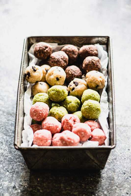 These no-bake Amaze Balls are the perfect little bite. They're totally gluten-free and dairy-free, plus they come in 4 flavor options!   StupidEasyPaleo.com