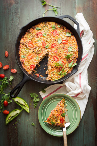 Perfection in one pan, this hearty & healthy Tex-Mex Beef & Rice Casserole comes to you from Nom Nom Paleo's new cookbook, Ready or Not! | StupidEasyPaleo.com