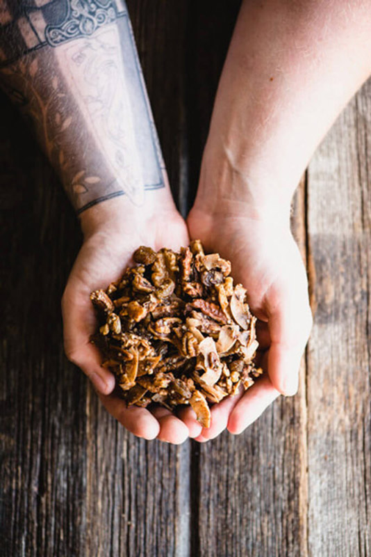 Grain-Free Pumpkin Granola tastes just like pumpkin pie...without the gluten. It's Paleo-friendly, low sugar, and so easy to make. | StupidEasyPaleo.com
