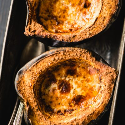 Paleo Baked Acorn Squash is so simple to make, healthy & has all your favorite fall paleo flavors. Plus, it's gluten-free & Whole30-friendly. | StupidEasyPaleo.com