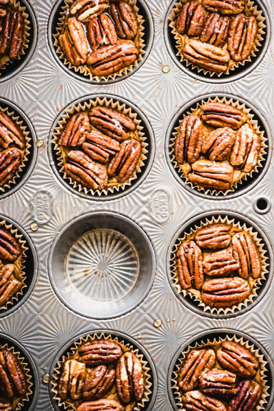 Mini Sweet Potato Pies are a perfect gluten-free dessert for your holiday feast. They're refined sugar-free, paleo, and dairy-free! | StupidEasyPaleo.com
