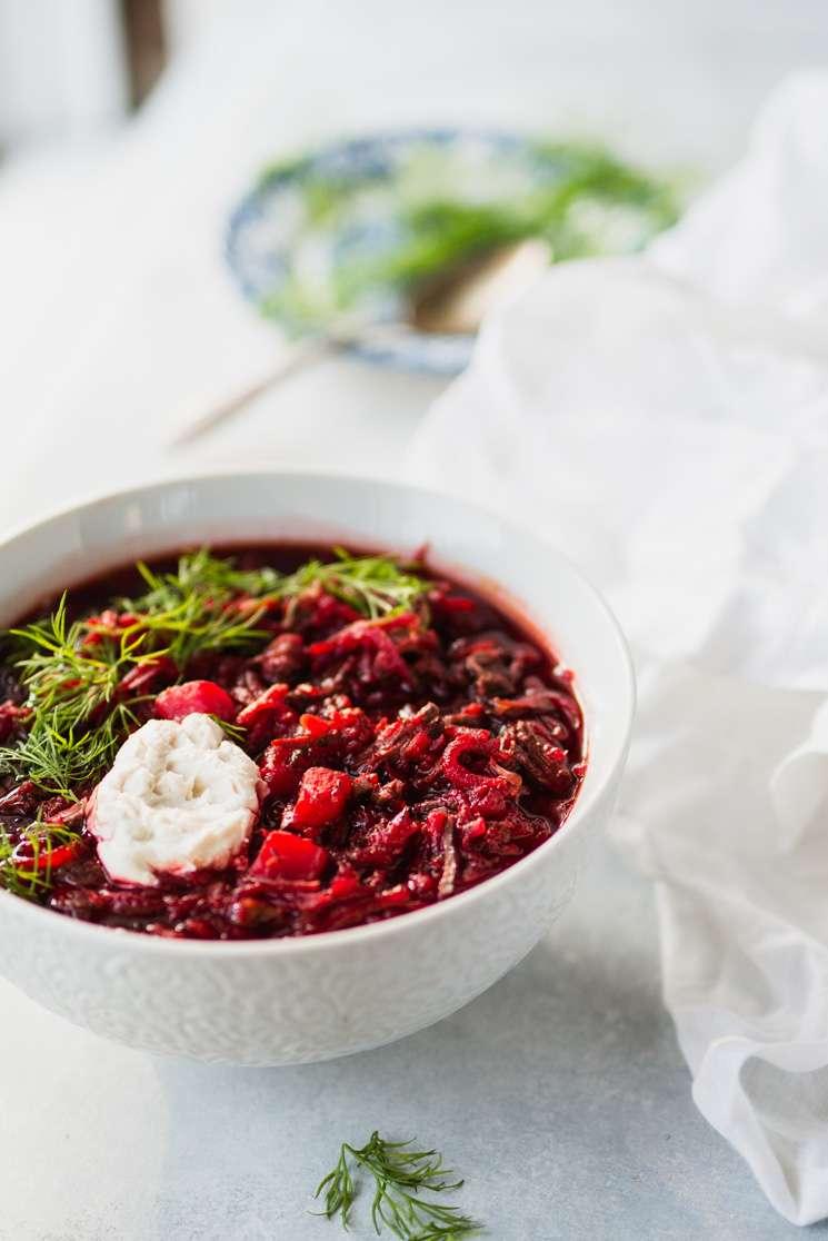 Instant Pot Borscht (Beet Soup) | StupidEasyPaleo.com