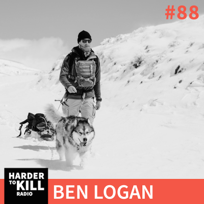 Ben Logan walking with his Alaskan Malamute in New Zealand.